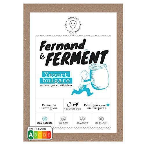 Fernand le Ferment pour Yaourt Bulgare Bio par Nature (1 paquet de 4 sachets)