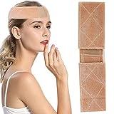 Fascia per parrucca in pizzo, fasce per parrucca antiscivolo per donna, parrucca flessibile Cinturini per il comfort Flanella Prevenire mal di testa Sciarpa Cappello Grip Fascia Fascia(Beige)