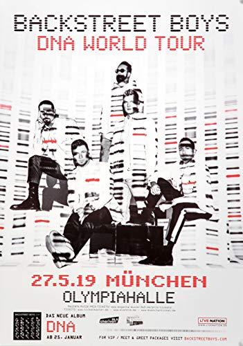Backstreet Boys - DNA World, München 2019 » Konzertplakat/Premium Poster | Live Konzert Veranstaltung | DIN A1 «