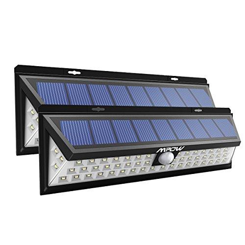 Luce Solare, 3 Modalità di illuminazione, Lampada Wireless ad Energia Solare da Esterno Impermeabile con Sensore di Movimento Per Parete/Muro/Giardino/Terrazzino/Cortile/Casa