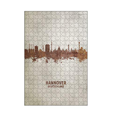 artboxONE-Puzzle M (266 Teile) Städte Hannover Germany Skyline Rust - Puzzle Hannover Cityscape Deutschland