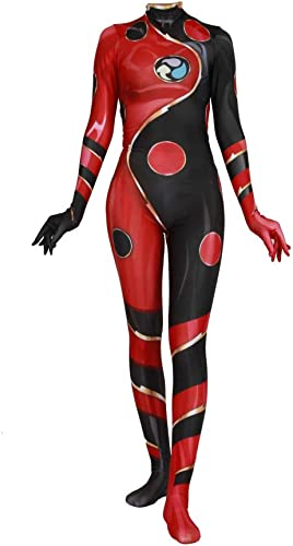 tienda de ventas outlet POIUYT Mariquita De Anime para Adultos Drangon Bug Bug Bug Cosplay De Una Pieza Ajustada Ropa Universo Paralelo Fiesta De Disfraces De Halloween Rendimiento Ajustada Ropa-XXXL,rojo-L  comprar ahora