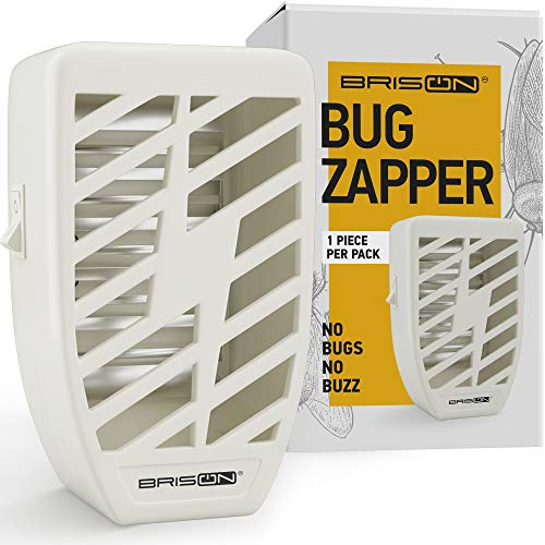 Indoor Plug-in Bug Zapper - Power Portable Home Electric Insect Trap - Odorless Noiseless  for Removes Flies Mosquitos Gnats Moth and Bugs (1 Pack)
