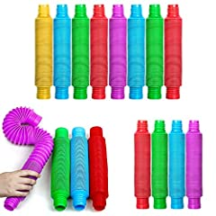 BunMo Pop Tubes Toddler Toys Bundle 16pcs includes 2 exciting BunMo products - BunMo XL Pop Tubes 4Pack, BunMo Original Pop Tubes 12pcs XL Pop Tubes with new twist on connectors! These super-sized open ended toys are made for all busy little fingers ...
