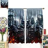 DRAGON VINES The Witcher 3 Wild Hunt Eredin Imlerith Caranthir- Cortinas residenciales, oficina, decoración de habitación, 214 x 214 cm