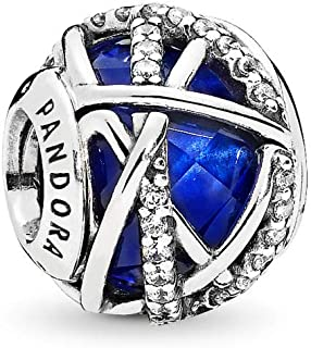 PANDORA Galaxy Charm, Sterling Silver, Royal Blue Crystal, Clear Cubic Zirconia, One Size