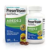 PreserVision AREDS 2 Eye Vitamin & Mineral Supplement, Contains Lutein, Vitamin C, Zeaxanthin, Zinc & Vitamin E, 120 Softgels