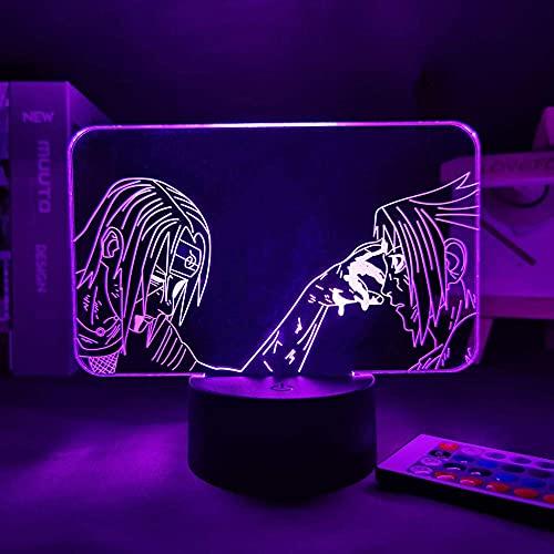 Lámpara 3D anime porche luces de noche narutoed dar a niña luz de noche para el hogar luz de noche para niños manga usb luz naruTOED