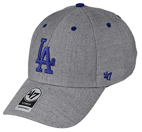 47Brand Los Angeles Dodgers Adjustable Cap MVP MLB Storm Cloud Charcoal - One-Size