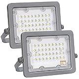Foco LED OSRAM Gris Slim 30W, Pack 2 unidades, Iluminación Exterior IP65, Proyector Luz Blanca 6500K, para terraza, jardin, patio. (30)
