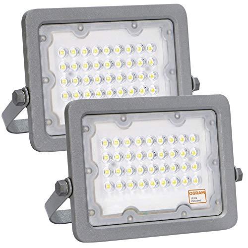 Foco LED OSRAM Gris Slim 30W, Pack 2 unidades, Iluminación...