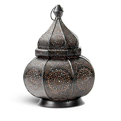 Moroccan Vintage Lantern | Tea Light Candle Holder | Decorative Standing Lamp...