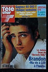 TELE STAR 933 BRANDON Cover + 3 p. - Rita Mitsouko Béart Auteuil - Fanny Ardant - 15 août 1994