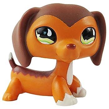 Littlest Pet Shop Dachshund Savvy Savvanah Reed LPS Dog Figure Toy # 675