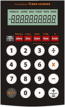 Taschenrechner elektronischer Finanzberater Volksrechner