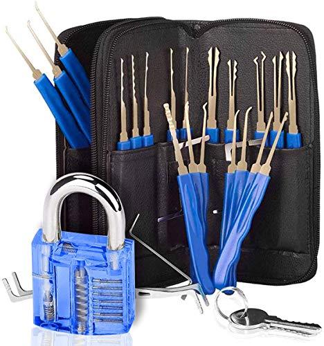 24 PCS マルチツールセット-ステンレス鋼、トレーニングキット、特別に設計された、多機能使用、プロフェッショナル-青い