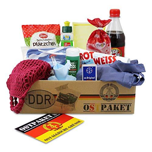 Ostpaket Kultprodukte klein mit 12 typischen Produkten der DDR Geschenkidee Spezialitäten Spezialitätenpaket Intershop Ostprodukte Geschenkset