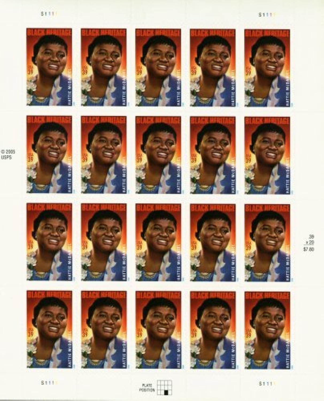 HATTIE MCDANIEL  BLACK HISTORY  BLACK HERITAGE  3996 Pane of 20 x 39 US Postage Stamps by U.S. Mail