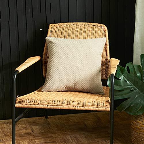 KLily Flanell Geprägte Dekorative Kissenbezug Dreidimensionale Einfache Einfarbige Kissenbezug Home Sofa Kissenbezug Office Sitz Kissenbezug