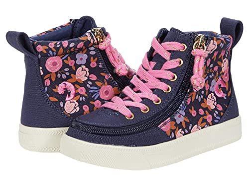 BILLY Footwear Classic Lace High (Toddler/Little Kid/Big Kid) Navy Floral 12 Little Kid M