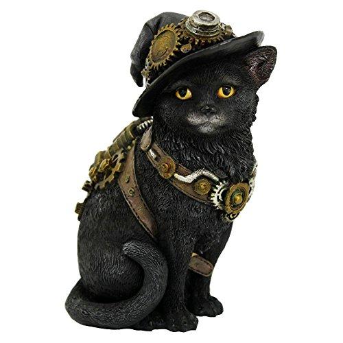 Nemesis Now Clockwork Kitty - Figura Decorativa (16,5 cm), Color Negro