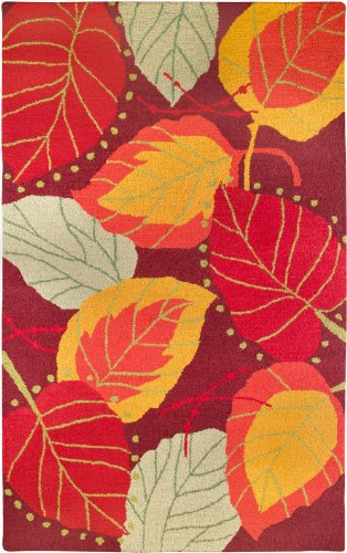 Hot Sale Rizzy Home CT1583 Country 8-Feet by 8-Feet Round Area Rug, Red