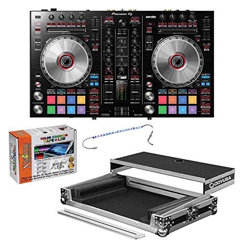 Great Price! Pioneer DDJ-SR2 2-Channel Serato DJ Controller + Black ATA Flight Case & LED Kit