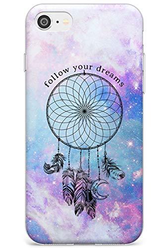 Galaxy Modello Dreamcatcher Stinto Slim Cover per iPhone 6 TPU Protettivo Phone Leggero con Sognare Frase Inspirational Tie Dye Spazio