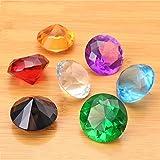 Pisapapeles de cristal con diamantes de imitación gigantes en forma de diamante de 40 mm para boda, fiesta de cumpleaños, transparente