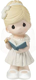 Precious Moments, This Is The Day The Lord Has Made Bisque Porcelain Girl Figurine, For Girl, 153006