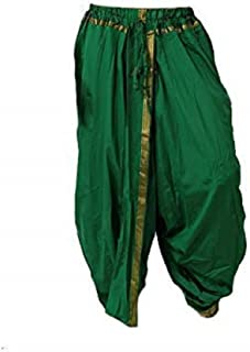 Indian Cultural Green cotton stitched dhoti