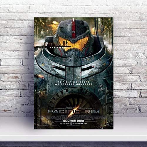 Placa MDF Filme Pacific Rim Círculo de Fogo