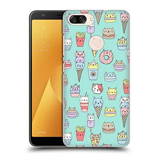 Officiële Andrea Lauren Design Kattenvoer Voedsel Patroon Hard Back Case Compatibel voor Zenfone Max Plus (M1)