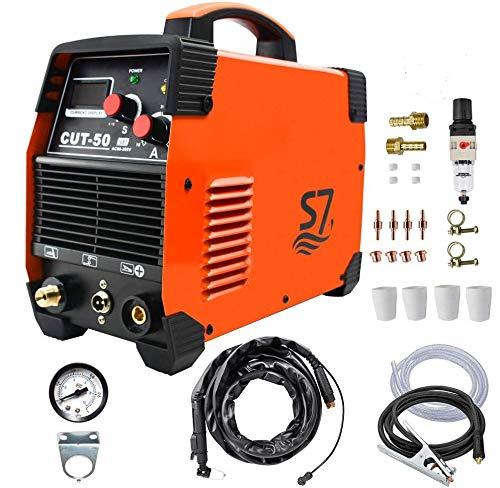 cortador de plasma, CUT50 50 Amp 220V de doble voltaje AC DC IGBT Máquina de corte con pantalla LCD y accesorios Herramientas