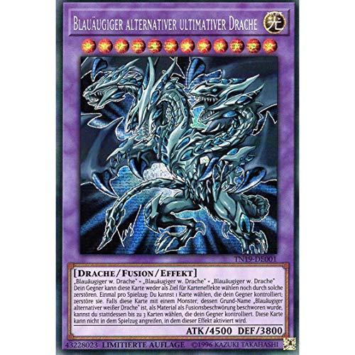Blauäugiger Alternativer Ultimativer Drache - TN19-DE001 - Prismatic Secret Rare - Yu-Gi-Oh! - Deutsch - mit GECO® Versandschutz