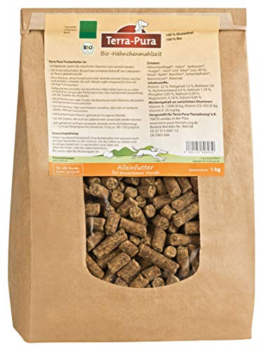 Terra Pura Hähnchenmahlzeit 1kg Bio Hundefutter, 1er Pack (1 x 1 kg)