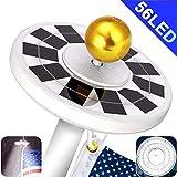 Yakalla 56 LED Solar Flag Pole Light Three-Grade Fifth Generation Adjustment IP67 Waterproof