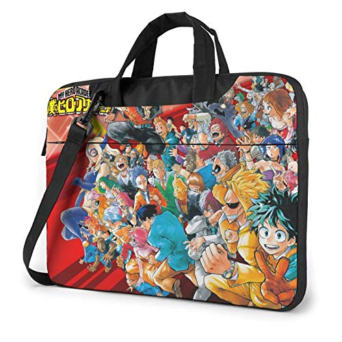 15.6 inch Laptop Shoulder Briefcase Messenger My Hero Academia Tablet Bussiness Carrying Handbag Case Sleeve
