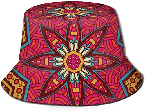DUTRIX Ethnic Geometric Print NRENRE Unisex Outdoor Travel Sun Bucket Hat Summer Fisherman Cap