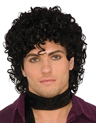 Forum Novelties 80s Rock Star Royalty Wig Black, One Size