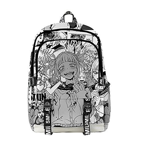 VERROL Mochila Escolar My Hero Academia para Mujeres, Anime Boku no Hero Moda Mochila de Impresión 3D para Unisex Casual Mochila de la Escue Mochila de Viaje PortáTil para Adolescente Chicas y Niños