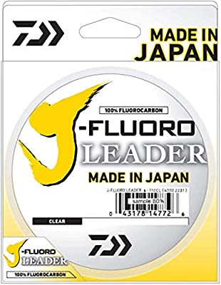 Daiwa J-Fluoro Fluorocarbon Leader - 30 Pound - 50 Yards, Multi, One Size