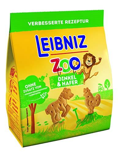 Leibniz Zoo Dinkel & Hafer Mini-Kekse mit Lustigen Tier-Motiven mit Dinkel & Hafer-Kekse zum Spielen-Kinderkekse für den kleinen Hunger (1 x 125g), 125 g