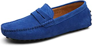 29733e92ddc602 Eagsouni Men s Loafers Driving Boat Shoes Slip On Casual Moccasins Penny  Suede Leather Flats Slippers Dress