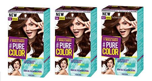 Schwarzkopf Pure Color Permanent Gel Färbung No. 5.6Schokolade Versuchung (3er Pack)