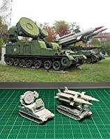 ◆1/144 レジンキット B487 Russian 2K11 Krug (SA-4) Air Defense Missile & 1S32 Radar
