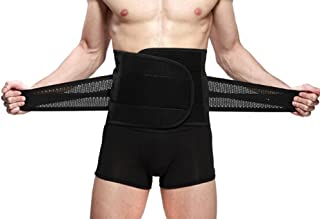 Goege New Style Adjustable Breathable Trimmer Belt,Tummy Fat Burning Slimming Belt,Body Shaper Slimming Tummy Waist Trainer,Lose Weight Fast,Helps Lose Post Boby Weight,Best Waist Trimmer Beer Belly for Men,Size L: 98cm(38