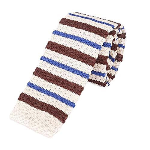 Tie Freizeit Flachkopf geflochtene Schnur Krawatte Fashion Vintage Stricken Krawatte (Color : 10, Size : 145cm*5cm*4cm)
