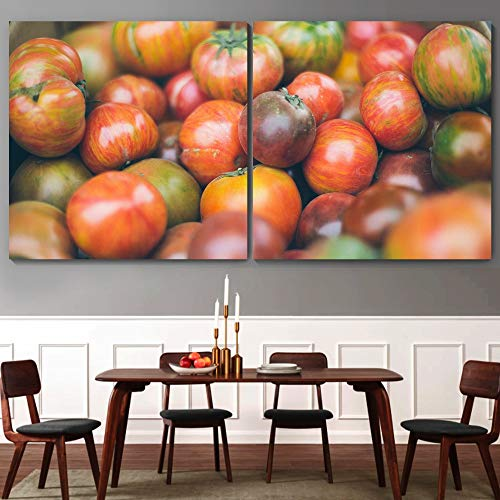 """bestdeal depot Fruits / Modern Art Multicolor Photography 2 Panel Canvas Wall Art Prints for Living Room,Bedroom Ready to Hang - 12""""x12"""" x 2 Panels"""