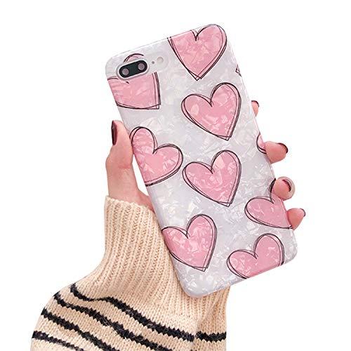 Hishiny Custodia iPhone 7 Plus, Cover iPhone 8 Plus, Silicone Cover Ultra Sottile Morbido TPU Silicone Caso Anti-Graffio Antiurto Bumper Protettiva Case Custodia per iPhone 7 Plus 8 Plus (RosaAX)